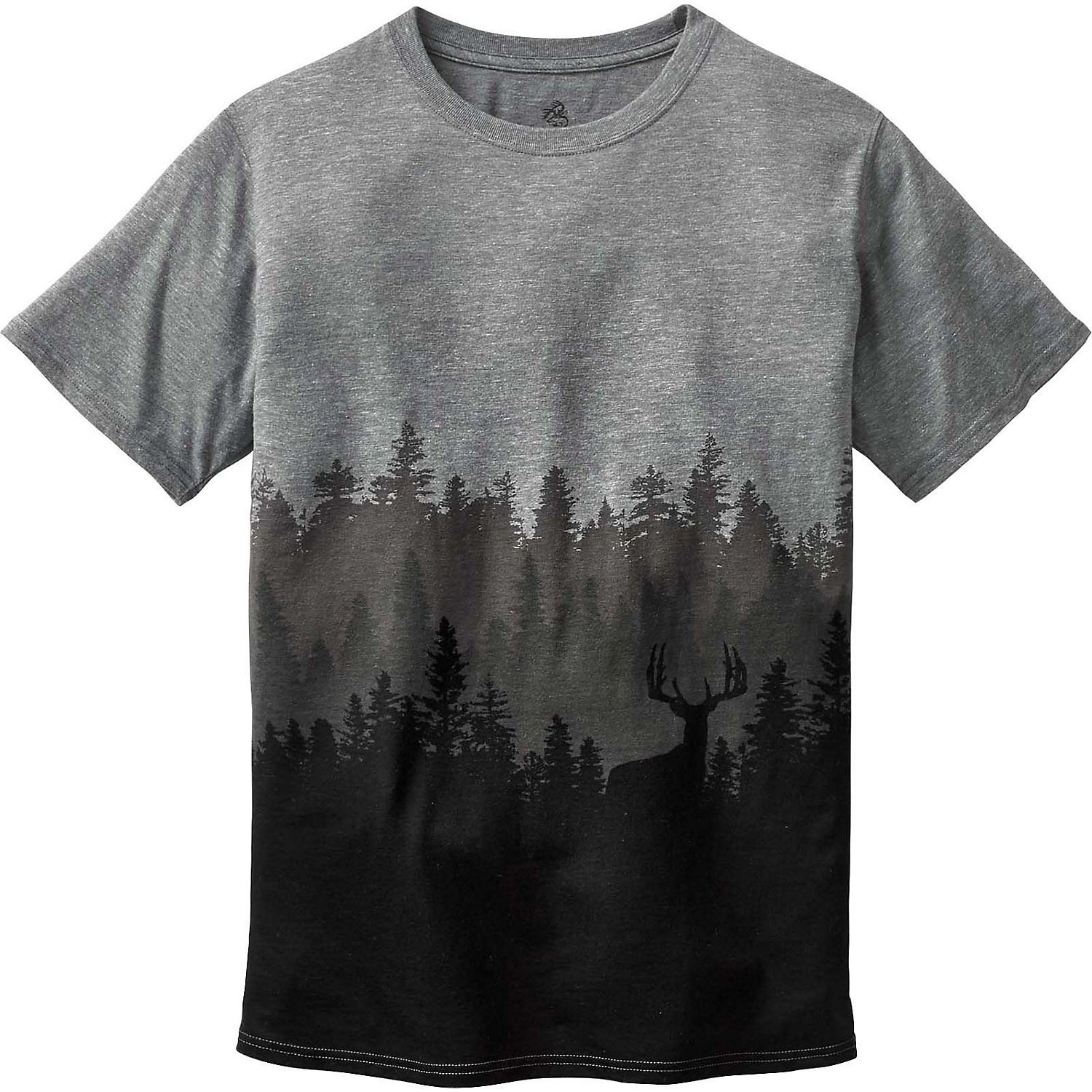 Legendary Whitetails Men's Timber Shadow Short Sleeve T-Shirt Graphite Heather Small