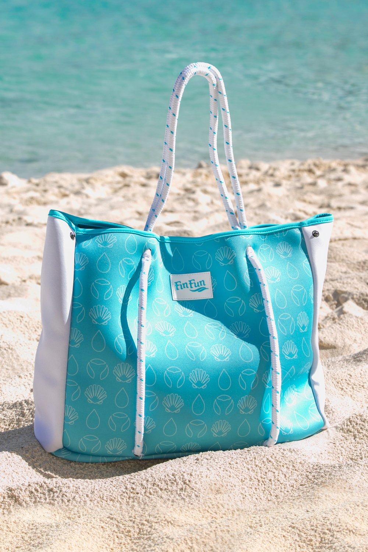 Fin Fun Mermaid Blue Neoprene Tote Bag- Monofin NOT included by Fin Fun (Image #2)
