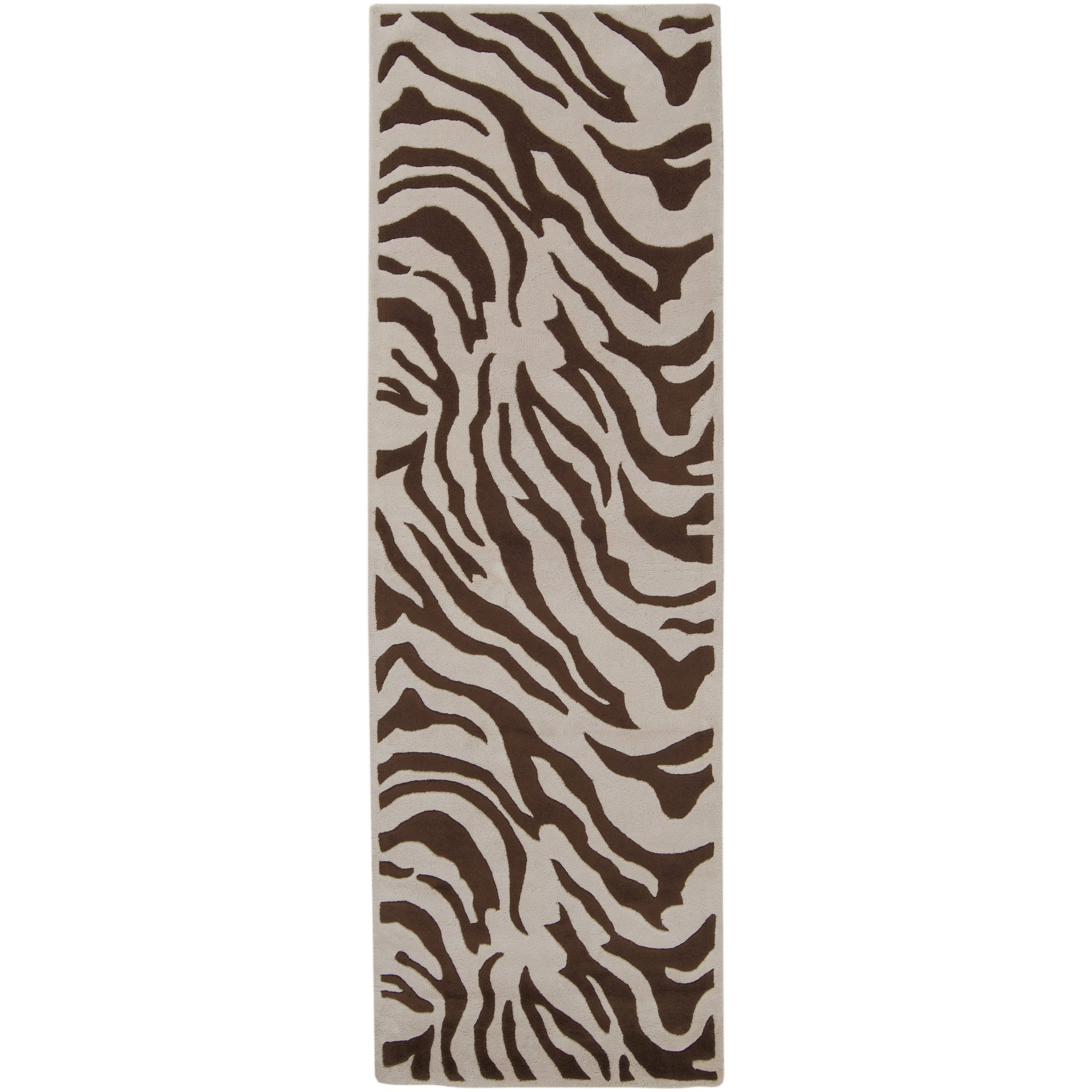 Surya Goa G-169 Contemporary Hand Tufted 100% New Zealand Wool Ivory 2'6'' x 8' Animal Runner