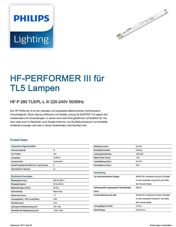 Philips Elektronisches Vorschaltgerät EVG HF-P 2x 80 Watt TL5 und PL ...