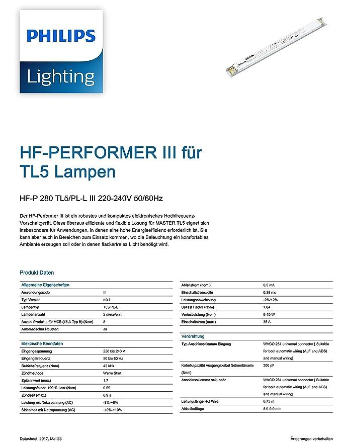 Philips Elektronisches Vorschaltgerät EVG HF-P 2 x 80 Watt TL5 und ...
