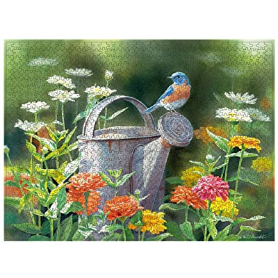 Limsea Puzzles for Adults 1000 Piece, Birds/Flowers Paintings Landscape Jigsaw Puzzle Picture Assembling Games Family Educational Toys Gift for Adult Kids Children: Clothing