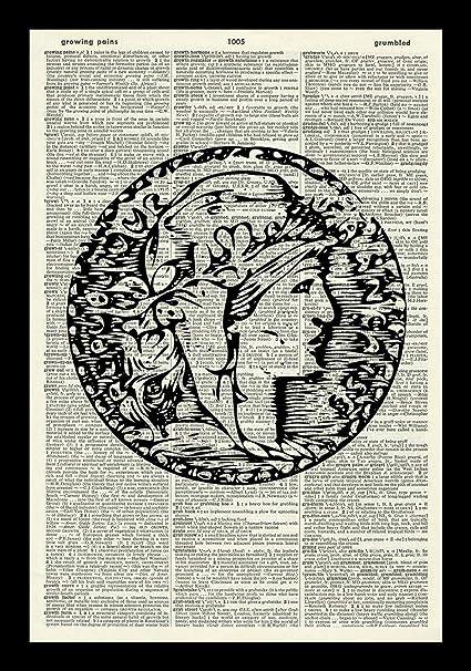Amazon com: 128 buyloii Vintage Coin Art Print-Ancient Coin Art