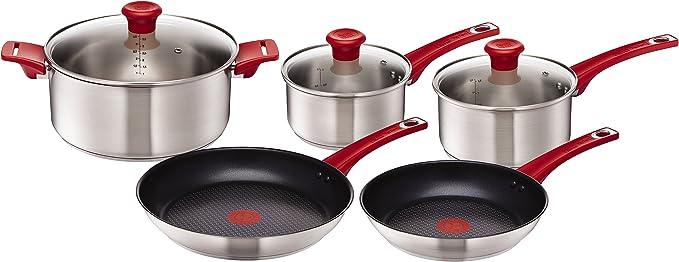 T-FAL Jamie Oliver 2pk cookware frypans 24cm//28cm