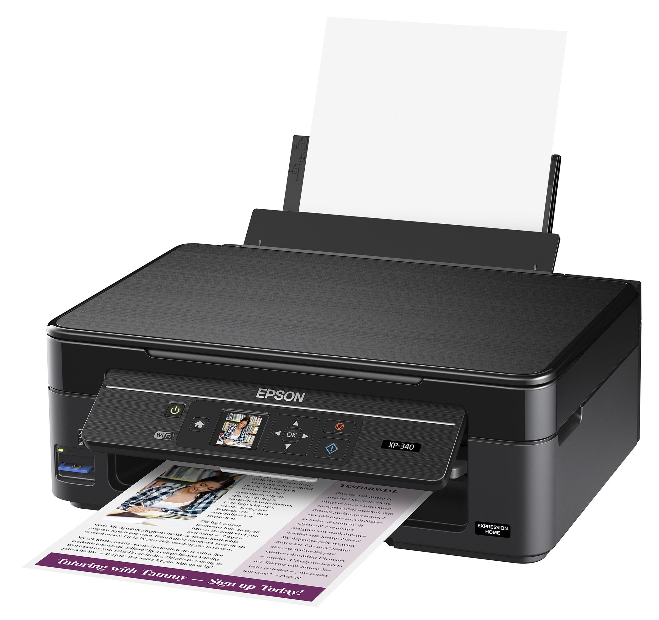 Epson Expression Home XP-340 Wireless Color Photo Printer with Scanner and Copier, Amazon Dash Replenishment Enabled by Epson (Image #2)