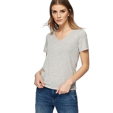 17d5cbdd517 Red Herring Womens Grey V Neck T-Shirt  Red Herring  Amazon.co.uk  Clothing