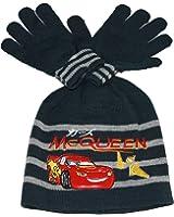 cars disney-bonnet et gants-bleu-garçon