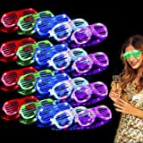TURNMEON 20 Pack LED Glasses,6 Color Light Up Glasses Shutter Shades Glow Sticks Glasses Led Party Sunglasses Adult Kids Glow