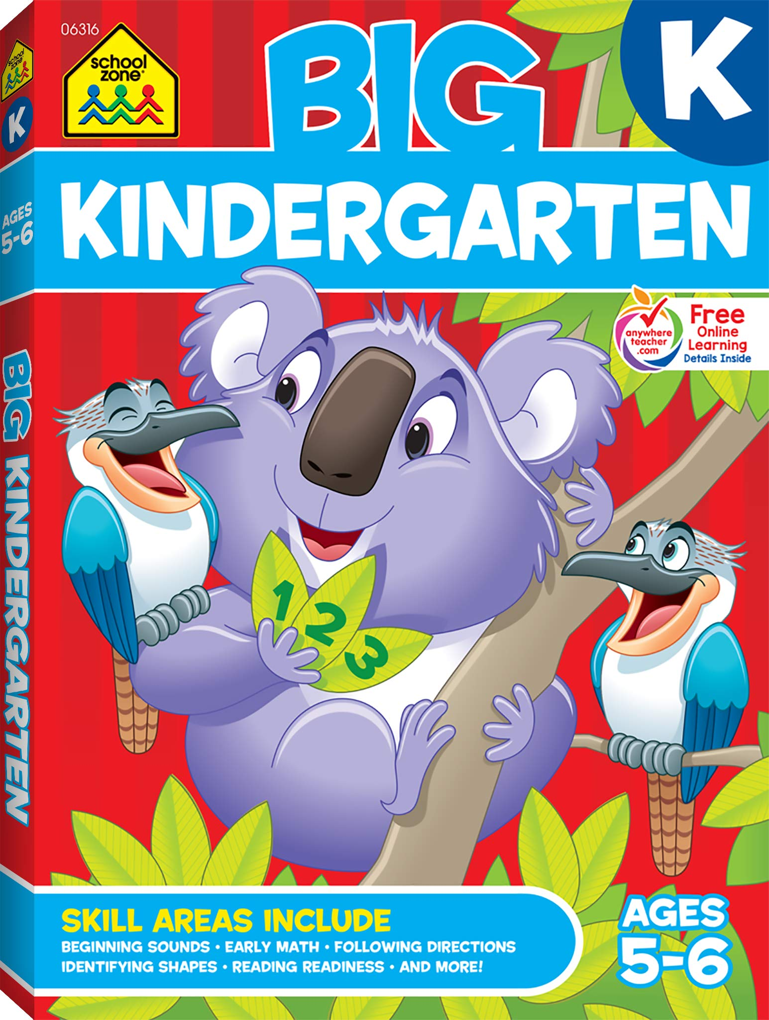 1ed1d6a8061 School Zone - Big Kindergarten Workbook - Ages 5-6