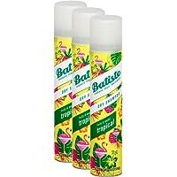 Shampoo a secco Batiste Dry Shampoo Coconut & Exotic Tropical, fresca capelli per tutti i tipi di capelli, confezione da 2+ 1(3X 200ML)