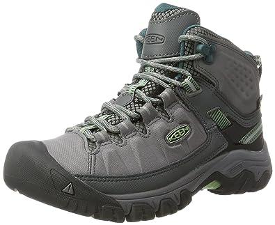 Keen Damen Targhee EXP Waterproof Trekking-& Wanderhalbschuhe, Grau (Steel Grey/Green Basil Steel Grey/Green Basil), 42 EU