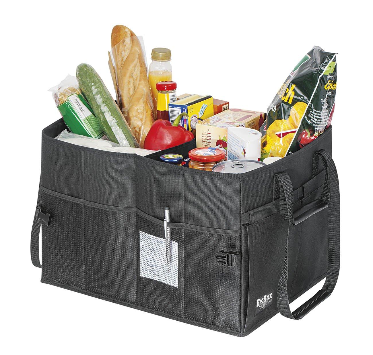 WEDO Bigbox Sacoche de Rangement L pour Coffre de Voiture 45 x 35 x 30 cm Noir