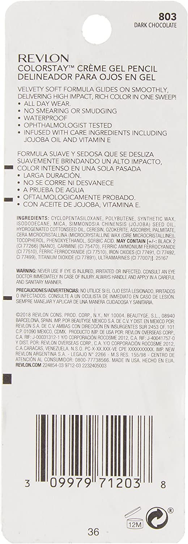 Revlon lápiz crema gel N ° 803 Dark Chocolate: Amazon.es: Belleza
