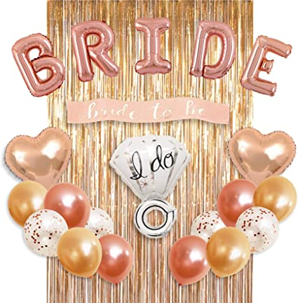 Rose Hen Party Sash Gold Foil Latex Balloon Set Helium Bride To Be Wedding Party
