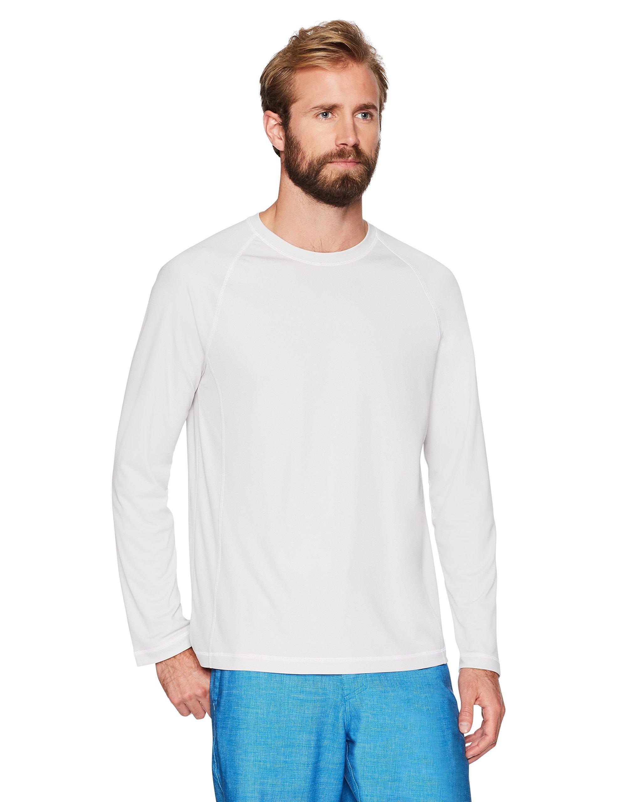 Amazon Essentials Men's Long-Sleeve Quick-Dry UPF 50 Swim Tee, Silver, Medium by Amazon Essentials (Image #2)