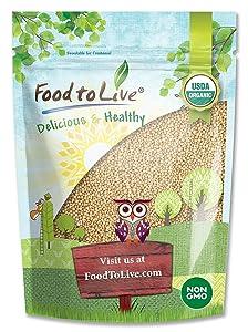 Organic Amaranth Grain, 3 Pounds - Whole Seeds, Non-GMO, Kosher, Vegan, Bulk