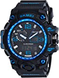 Skmei Analog-Digital Black Dial Men's Watch - 1155-Blue