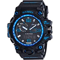 Skmei Analog-Digital Black Dial Men's Watch-1155-Blue