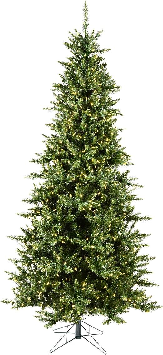 Amazon Com Vickerman 85 Camdon Fir Slim Artificial Christmas Tree With 800 Warm White Led Lights Home Kitchen