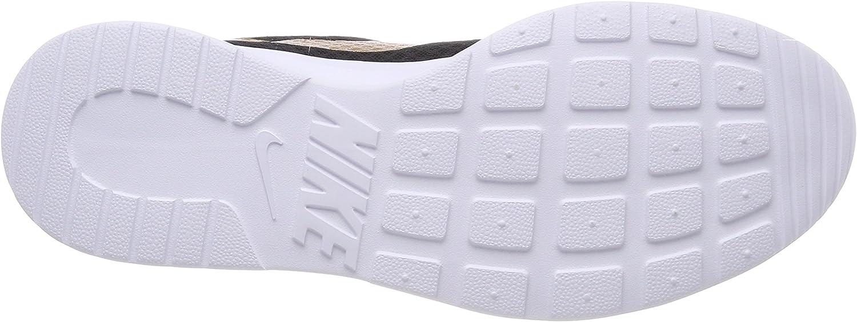 Nike WMNS Tanjun, Chaussures de Running Compétition Femme Noir Black Metallic Gold 004
