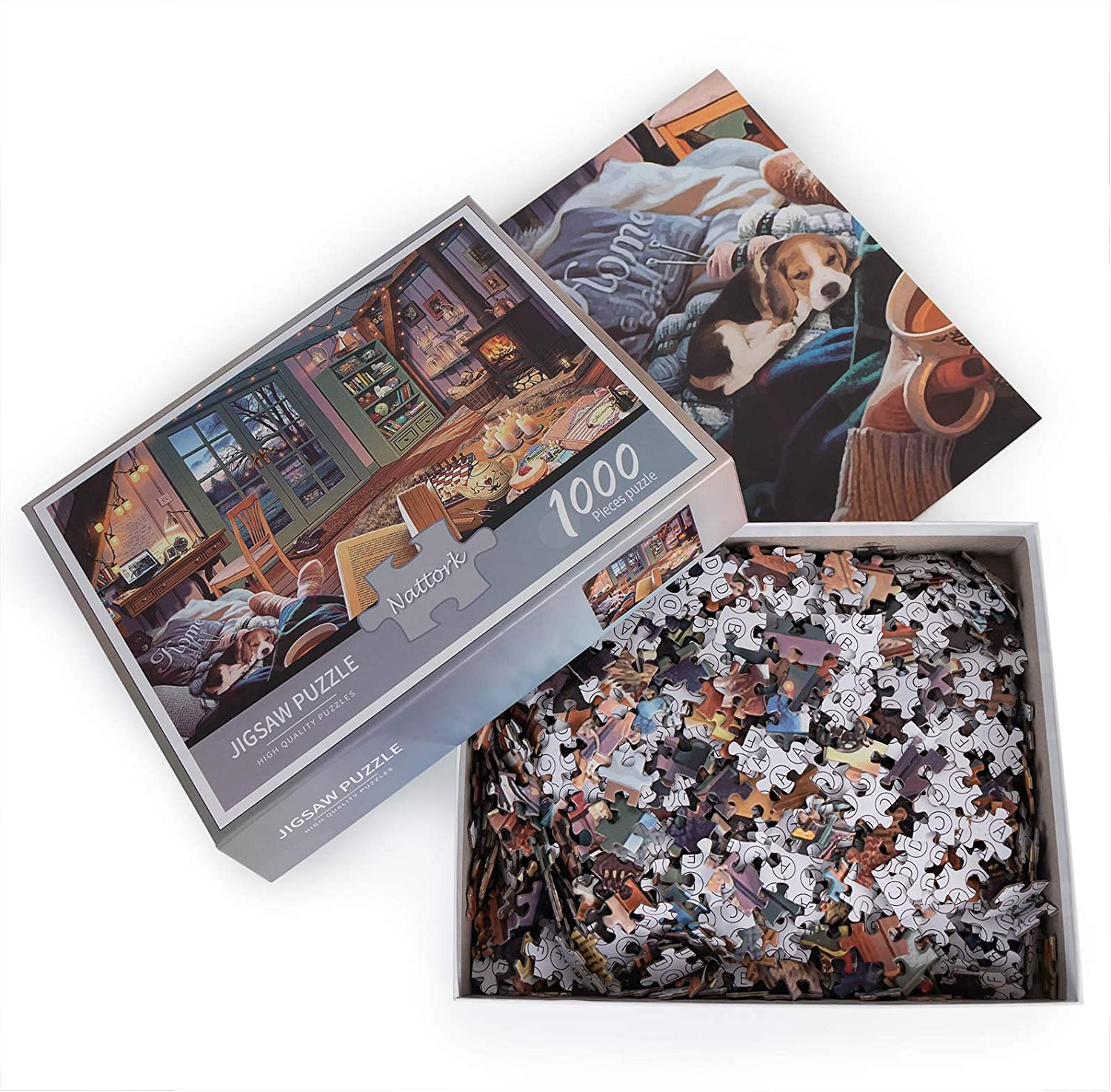 Nattork Cozy Room Jigsaw Puzzle 1000 Piece Puzzle for Adult and Kids