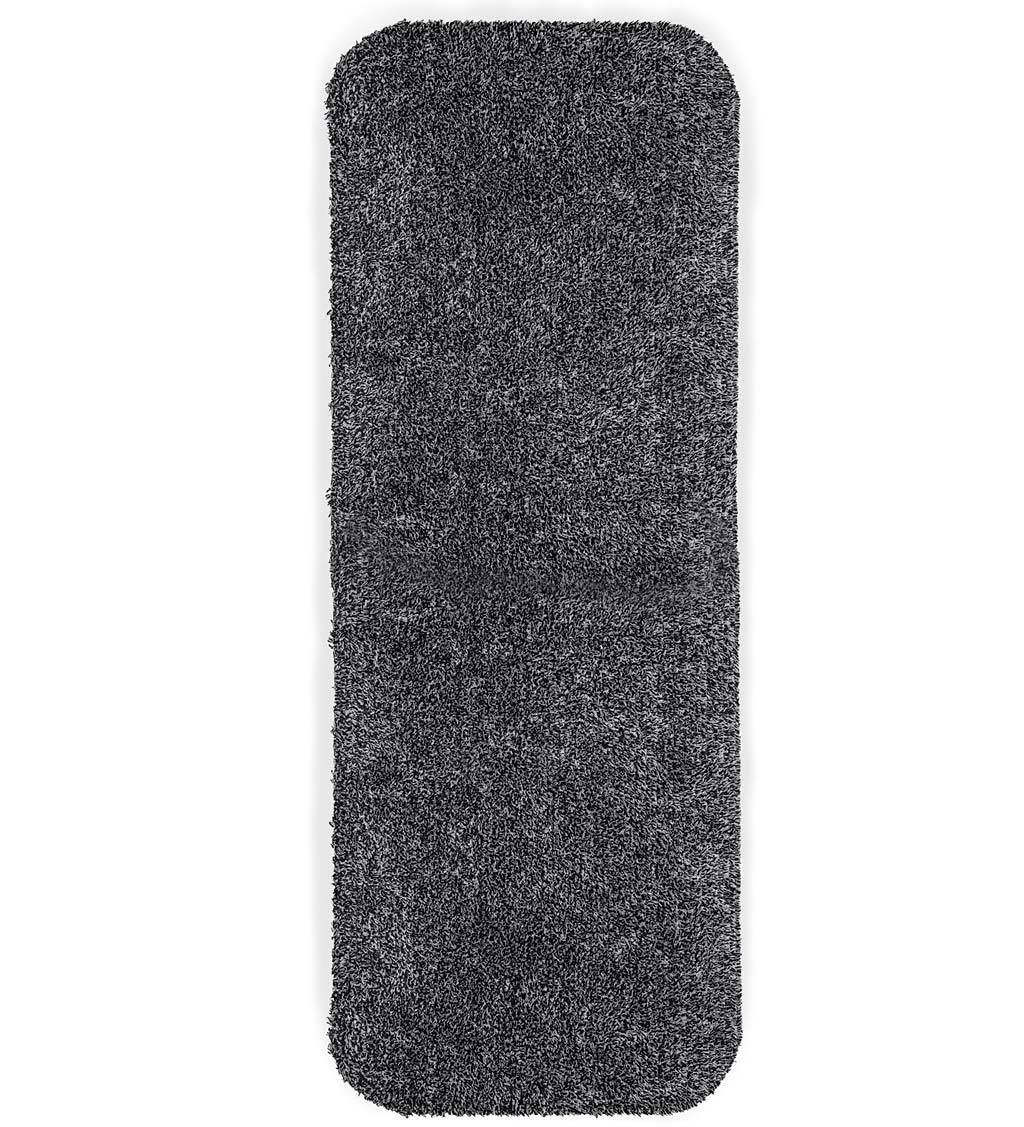 Plow & Hearth Mud Rug Runner, Absorbent Dirt Trapping Machine Washable, Non Slip Indoor Mat, 29 W x 58 L - Charcoal Grey