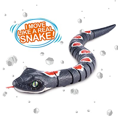 Robo Alive Slithering Snake Battery-Powered Robotic Toy (Stone Grey) by ZURU: Toys & Games