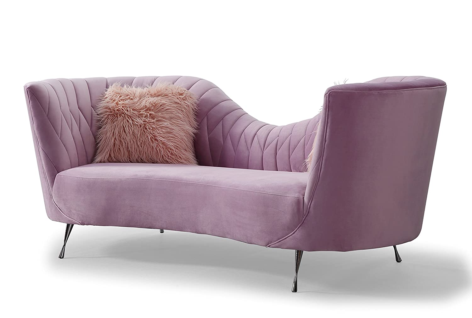 Amazon.com: Tov Furniture TOV-L6128 Velvet Sofa, Blush ...