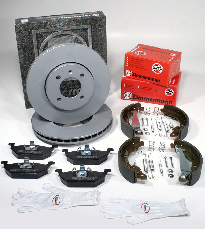 Autoparts Online Set 60012410 Zimmermann Bremsscheiben Pr Nr 1la 1zq Coat Z Bremsen Bremsbeläge Vorne Bremsbacken Zubehör Für Hinten Auto