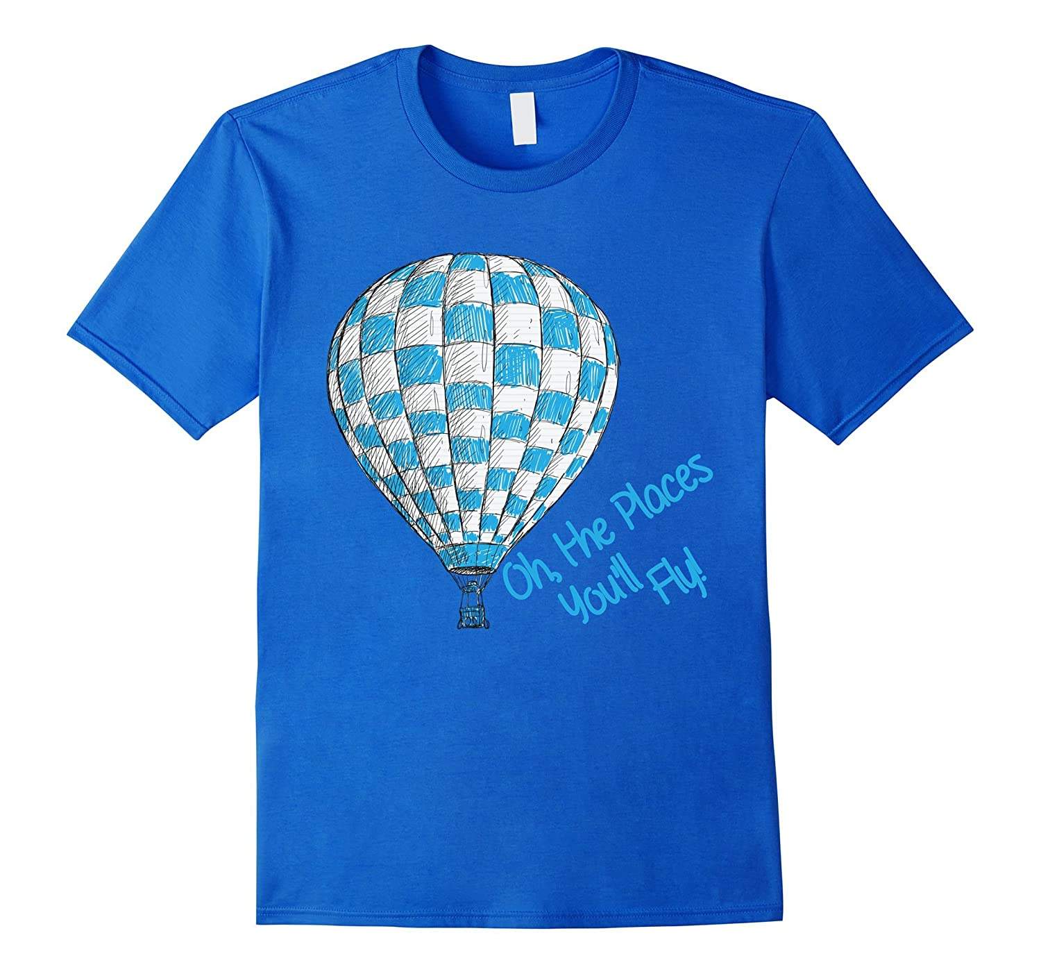 Hot Air Balloon - Oh The Places Youll Fly T-Shirt-CD