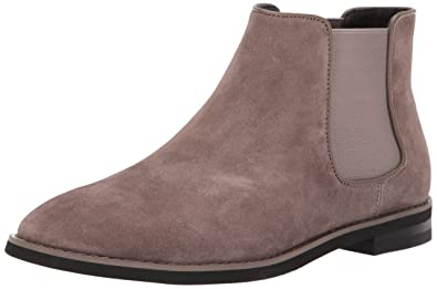 Calvin Klein Mens ALIXANDER Chelsea Boot Army Fatigue Suede 7 ...