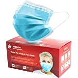 Face Mask Made in Canada Level 3 (blue) /50 pack. Premium Design with Comfortable Earloop & Adjustable Metal Nosebridge