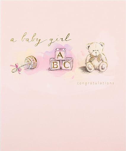 Hallmark Carte De Felicitations Pour La Naissance D Une Petite Fille Taille S Amazon Fr Fournitures De Bureau