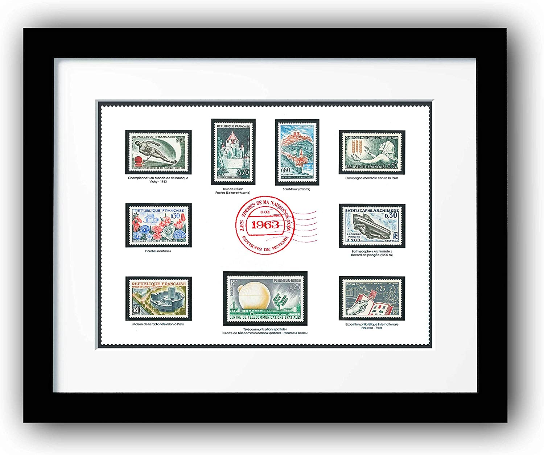 Marco de 9 Sellos auténticos de 1940 a 1969, Marco filatélico de colección para Colgar en la Pared, decoración: Amazon.es: Hogar