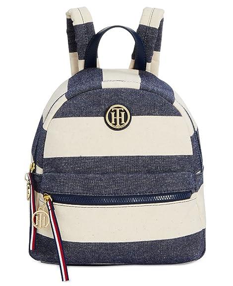 Tommy Hilfiger - Bolso mochila para mujer multicolor Navy/ Natural: Amazon.es: Zapatos y complementos