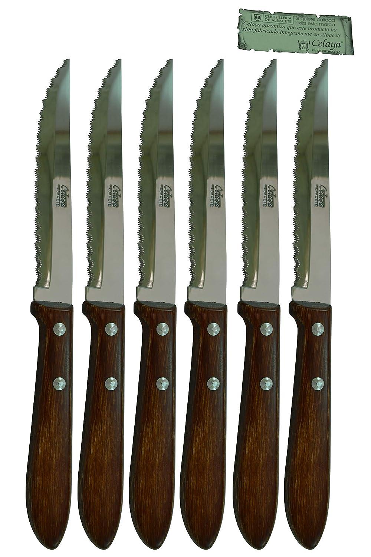 Cuchillos de mesa Madera Celaya Sierra Lote 6 Uds.: Amazon ...