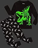 shelry Children Pajamas Boys Glow in Dark Dinosaur
