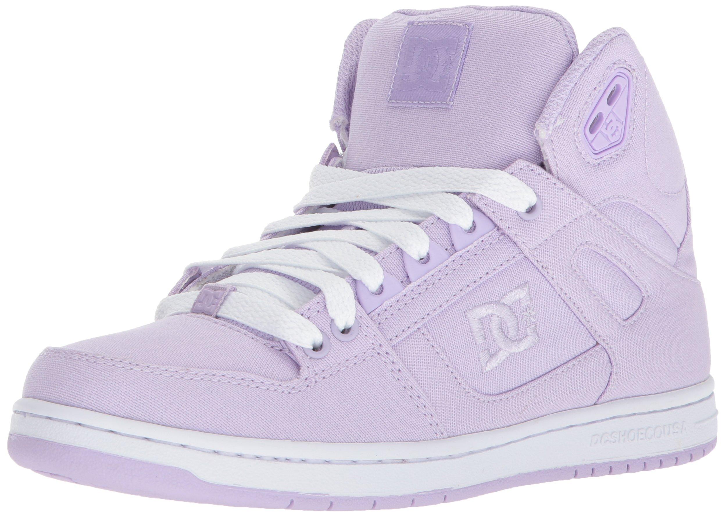 DC Women's Pure High-Top TX Skate Shoe, Lilac, 8.5 B US