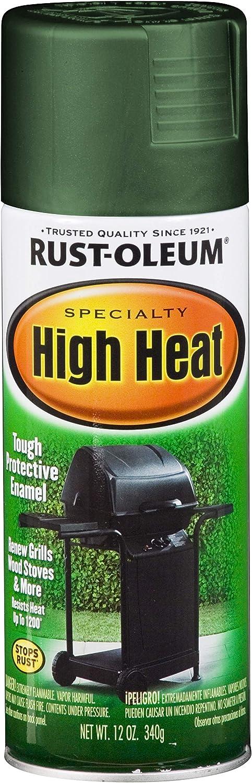Rust-Oleum 7752830 High Heat Enamel Spray, 12 oz, Green