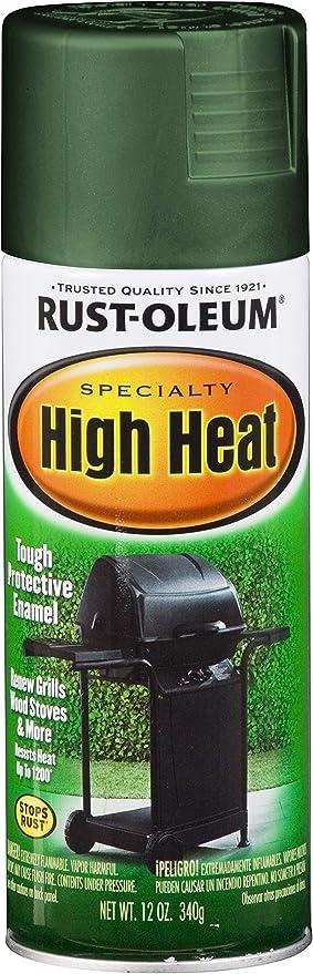 Rust Oleum 7752830 High Heat Enamel Spray Paint 12 Oz Green Spray Paints Amazon Com