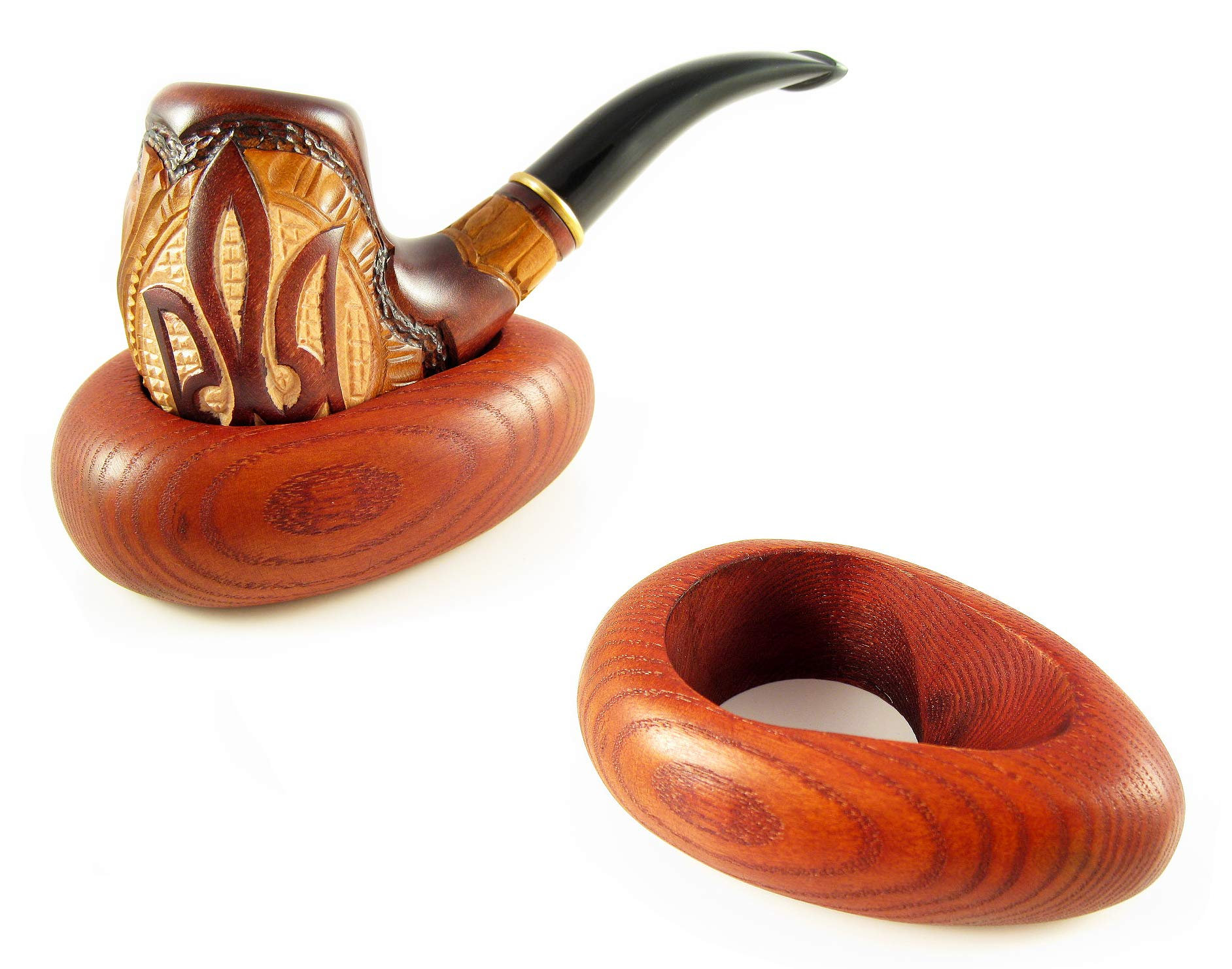 New Wooden Pipe Stand Rack Holder for Tobacco Smoking Pipe. Handcrafted by Fashion Pipes