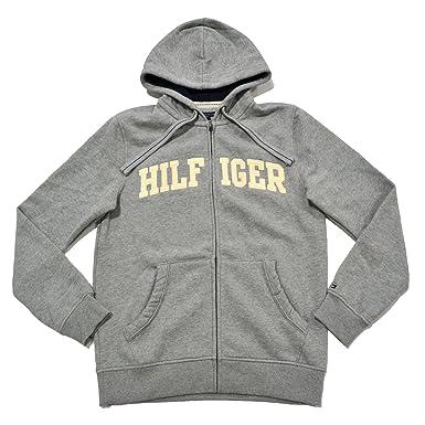 Tommy Hilfiger Mens Classic Full-Zip Fleece Hooded Sweatshirt at ...