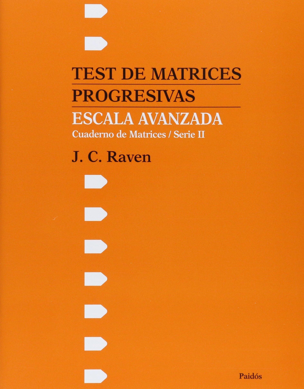 Download Test de Matrices Progresivas Escala Avanzada (Spanish Edition) PDF