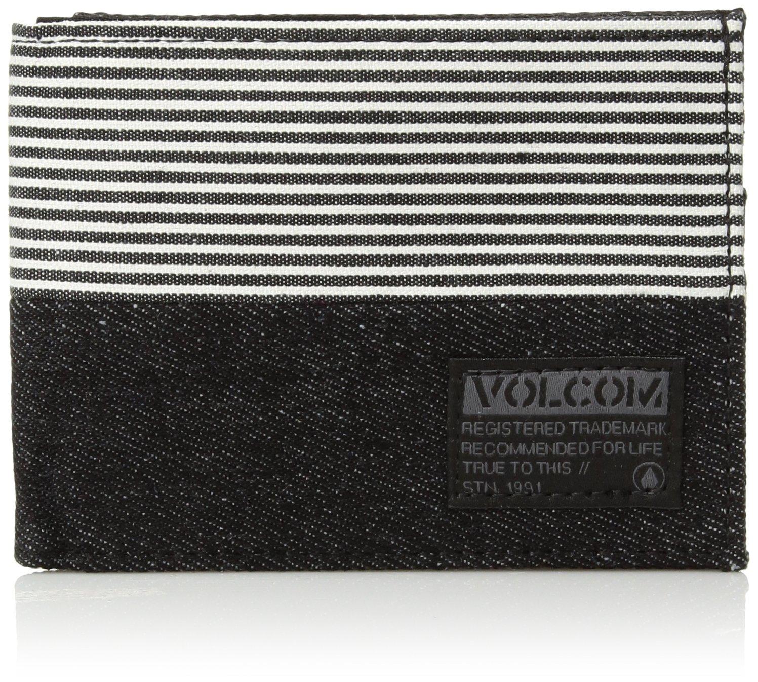 Volcom Men's Ecliptic Cloth Wallet Accessory, BLACK, O/S