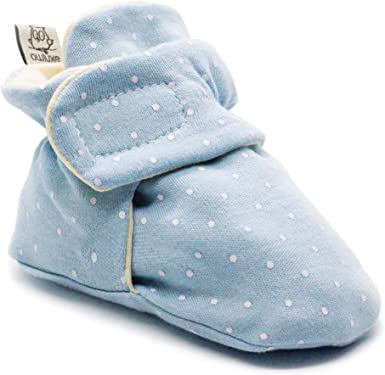 Owluxe Organic Cotton Baby Booties Crib