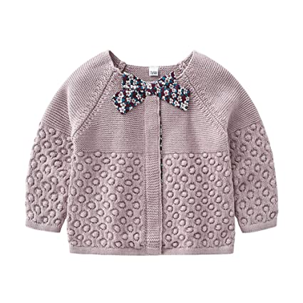 eca4f37c9 Amazon.com  NOMSOCR Newborn Baby Girls Cute Butterfly Knit Sweater Cardigan  Warm Outerwear Clothes (18-24 Months