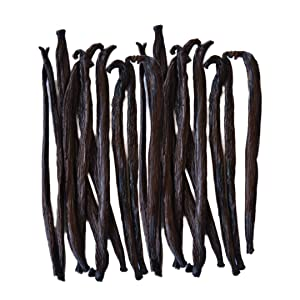 Native Vanilla Grade B Tahitian Vanilla Beans – 25 Premium Extract Whole Pods – For Chefs and Home Baking, Cooking, & Extract Making – Homemade Vanilla Extract
