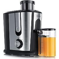 Arendo - Estrattore di succo - Centrifuga - Estrattore di frutta e verdura - Acciaio Inox e plastica senza BPA - 2 velocità - Protezione da surriscaldamento - Ingresso XL da 6,5 cm e Brocca succo