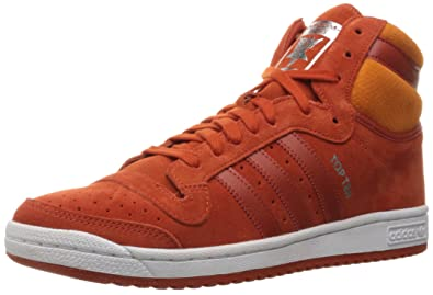 low priced 1894e ba067 adidas Originals Men s TOP Ten HI Running Shoe, Craft Chili Unity Orange  Fabric,