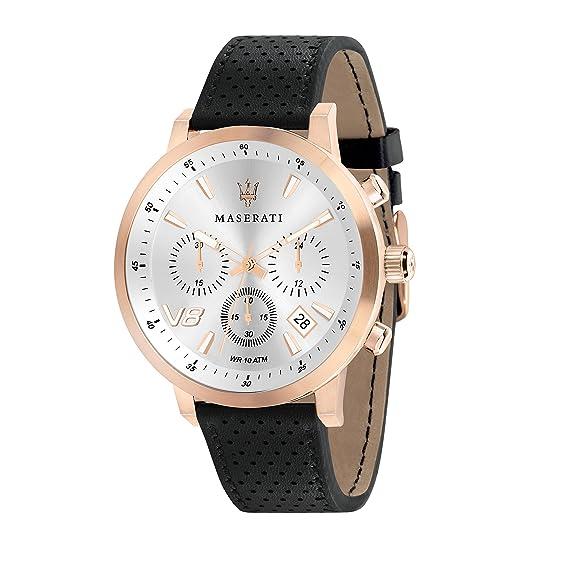 MASERATI Reloj Cronógrafo para Hombre de Cuarzo con Correa en Cuero R8871134001